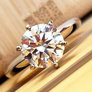3CT Moissanite Diamond Ring sz5